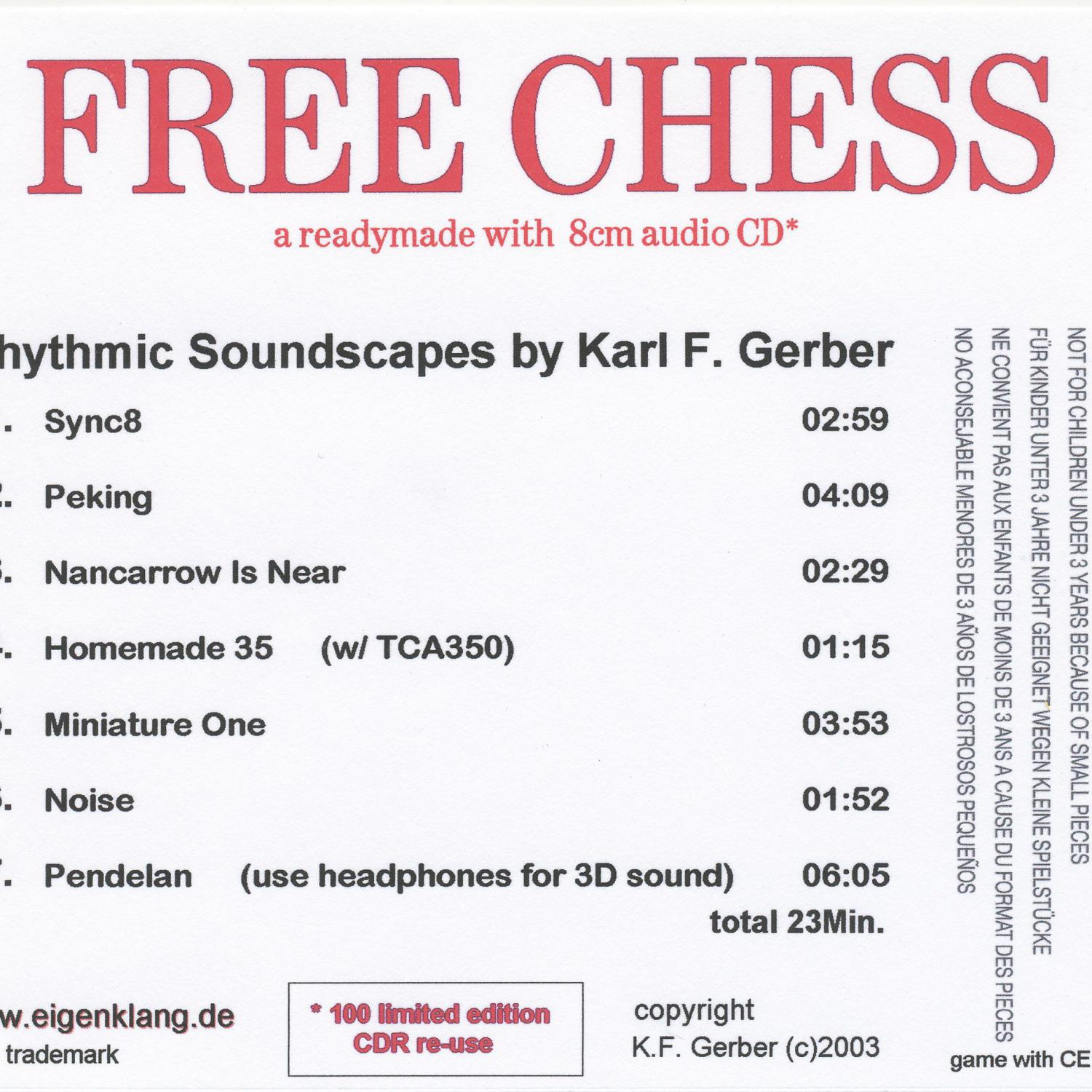Free Chess - back sleeve